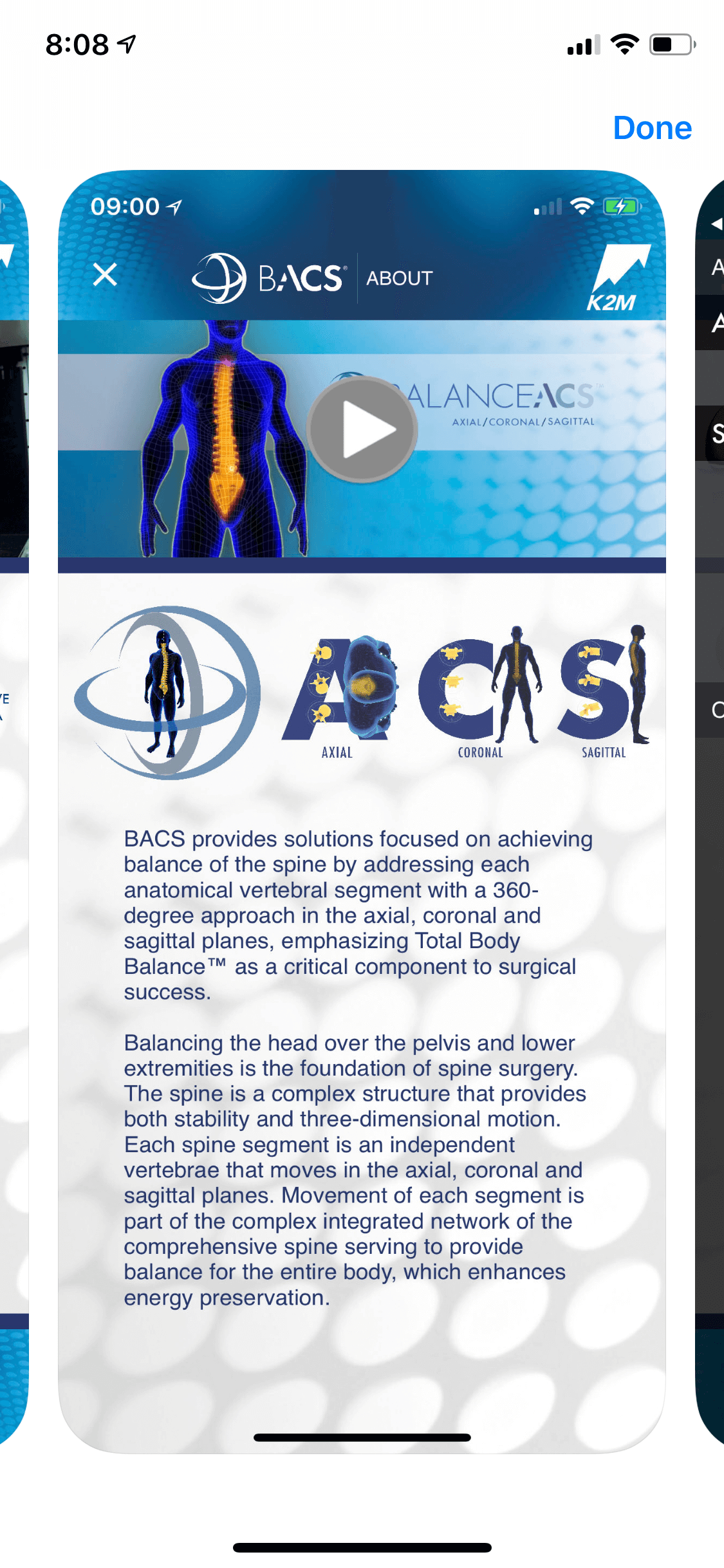 K2M BalanceACS app