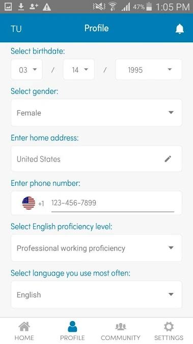 TransitioningU app