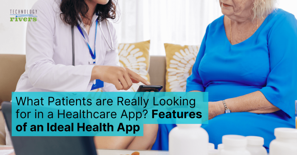 Doctor and patient using a healthcare app