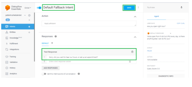 Building Your Custom Chatbot Using Google Dialogflow 19