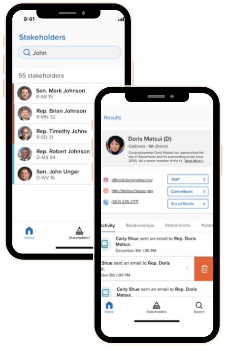 Phone2Action - Stakeholder Management Mobile App 1